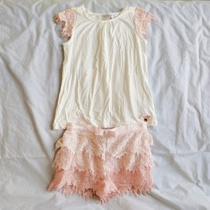 NWOT Katherine Malandrino girl lace 2 piece set